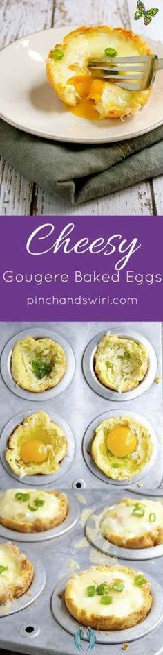 BuzzFeed Cheesy Gougere Baked Eggs are a simple and elegant recipe for a crowd! Easy Breakfast Recipes | Easy Breakfast for a Crowd #paleodessert<br> Best Breakfast Casserole, Breakfast For A Crowd, Food For A Crowd, Eat Breakfast, Vegetarian Breakfast, Breakfast Dishes, Brunch Recipes, Easy Dinner Recipes, Breakfast Recipes
