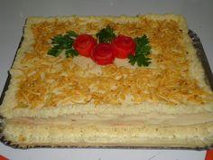 Torta de pão de forma, recheada com frango | Tortas e bolos > Torta de Frango | Receitas Gshow