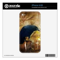 Crow/Raven Photo iPhone 4 4s Skin Skin For The iPhone 4S