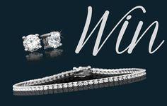 WIN A Diamond Tennis Bracelet and Diamond Stud Earrings, Worth From American Swiss Diamond Stud, Diamond Bracelets, Tennis, Stud Earrings, December 2014, Cosmopolitan, Creative, Diamonds, Jewellery