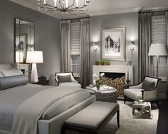 Luxury Bedroom with Grey Color
