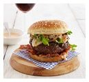 Sweet and Smoky Spanish Beef Burgers With Pickled Saffron Pears | Sutter Home