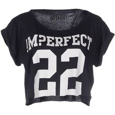 !m?erfect T-shirt ($38) ❤ liked on Polyvore featuring tops, t-shirts, shirts, dark blue, short sleeve t shirts, short sleeve tee and short sleeve tops