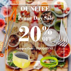 OUNLIFE Prime Day Deals ! 20% OFF All Store Get them now  www.amazon.com/shops/ounlife ! #primeday #deals #kitchenware #food #drinks