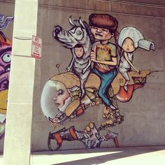 New work by #DavidChoe was put up shortly after we left. I was looking forward to coming back to seeing them in person. #denverstreetart #streetart