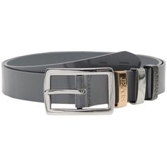 Pre-owned Classic Belt From Armani Jeans [ 43.5(us) / 110(it) ] #39996... (410 BRL) ❤ liked on Polyvore featuring accessories, belts, grey, gray belt, grey belt, silver belt, armani jeans and silver buckle belt
