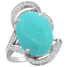 https://ariani-shop.com/14k-white-gold-natural-turquoise-ring-diamond-accent-oval-16x12mm-sizes-5--10 14k White Gold Natural Turquoise Ring Diamond Accent Oval 16x12mm, sizes 5 - 10