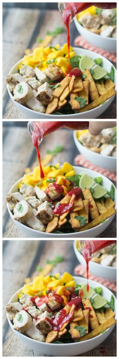 Mexican Chicken Salad with Raspberry Chipotle Dressing