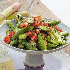 Avocado-Spargel-Salat Avocado and asparagus salad Avocado Recipes, Salad Recipes, Vegan Recipes, Cooking Recipes, Drink Recipes, Asparagus Salad, Asparagus Recipe, Tomato Salad, Avocado Dessert