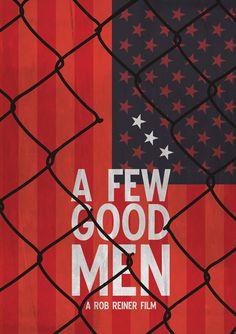 A Few Good Men minimalist movie poster by Dave Hooper