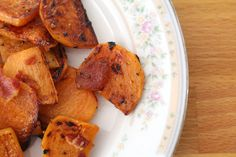 Sautéed Persimmons with Bacon. A yummy new way to enjoy persimmons.