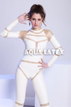 New Rubber Latex Catsuit Costume Sexy Unitard Zentai leotard Catsuit Costume, Latex Costumes, Rubber Catsuit, Latex Catsuit, Futuristic Costume, Futuristic Outfits, Space Outfit, Space Fashion, Latex Dress