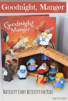 Goodnight, Manger: Nativity Story Activity for Preschoolers - Help children learn the Nativity story with a fun new book and storytelling activity! Christmas Books For Kids, Christmas Crafts For Toddlers, Preschool Christmas, Christmas Nativity, Christmas Activities, A Christmas Story, Toddler Crafts, Christmas Traditions, Christmas Fun