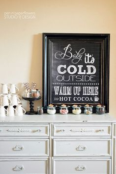 Baby It's Cold Outside  Chalkboard Signs by penandpaperflowers