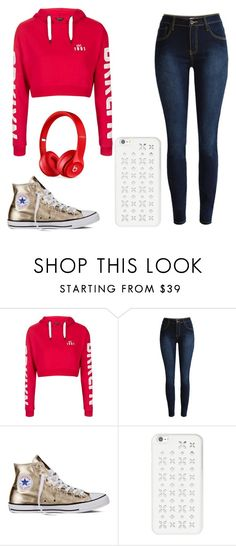 """""""It's the Weekend"""" by art-fashion ❤ liked on Polyvore featuring Topshop, Converse, MICHAEL Michael Kors and Beats by Dr. Dre"""