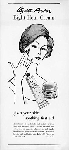 Vintage Makeup Cult Classic: 12 Ways To Use Elizabeth Arden's Eight Hour Cream - A tube of this take-everywhere, use-for-everything work-horse is sold every 30 seconds. Which is a LOT of tubes! And there's a reason for that: it's really good. Personal Beauty Routine, Korean Beauty Routine, Beauty Routines, Vintage Makeup, Vintage Beauty, Vintage Glamour, Vintage Style, Vintage Fashion, Elizabeth Arden Eight Hour Cream