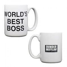 Our CEO drinks his coffee from this Dunder Mifflin mug ;)