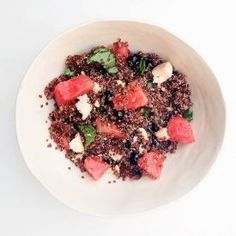 Watermelon  Blueberry Quinoa Salad: fresh healthy packed with nutrition and f