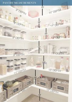 Do you know how to get the most out of your kitchen pantry storage? Read Ways to Create more pantry and kitchen Storage - maximize what you have got. pantry Pantry Cabinets – 7 Ways to Create Pantry and Kitchen Storage Kitchen Pantry Storage, Pantry Room, Kitchen Pantry Design, Walk In Pantry, Food Storage, Kitchen Decor, Kitchen Ideas, Kitchen Pantries, Kitchen Cabinets