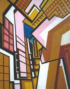 Workshop (1914-15) by Wyndham Lewis.