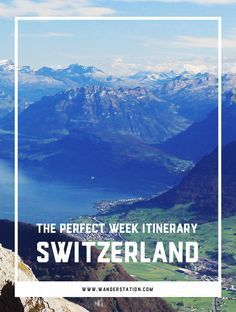 "The ultimate 1-week itinerary in beautiful Switzerland, including morning, afternoon, and evening schedules.  Places of interest include: Zurich, Interlaken, Lucern, Alpnach, Zermatt, Montreux, and Geneva.  Famous sights include Lake Zurich, Kapellbrucke (Chapel Bridge), Jungfraujoch (""Top of Europe""), Matterhorn, Chateau de Chillon, and more!"