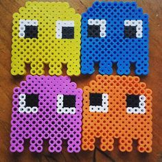 Pac-Man ghosts perler beads by xsybilx