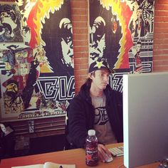 Cory Lopez taking a break from surf to get some office work in? #livethelife