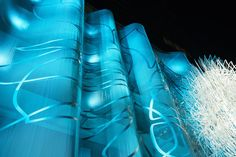 Fabricoil® coiled wire fabric system used for The Vermont's parking garage from Cascade Architectural