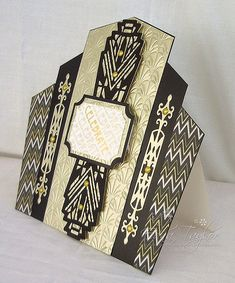 Pick of the week - Collectibles - an Art Deco card from Edna Debbie Moore, Wilson Art, Sue Wilson, Soda Can Crafts, Art Deco Cards, Tonic Cards, Studio Cards, Birthday Cards For Men, Male Birthday