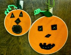 Sewing School: Jack-O-Hoop Simple first sewing project for little ones