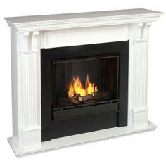 Ashley 48 In. Gel Fuel Fireplace In White