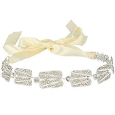 JoinMe Women's Bohemian Art Deco Beaded Leaf Foreband Bendable Hair Headband Ribbon Silver-Tone - Brought to you by Avarsha.com