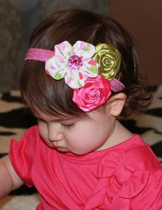 Baby Toddler Girl Boutique Triple Hot Pink by SweetLovelyCreations