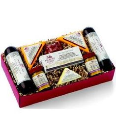 Hickory Farms - Ham Lovers Collection from GrowerDirect.com is the perfect gift for foodies! Contains delicious sausages, cheese, mustard, crackers and truffles!