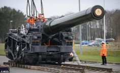 Britain's largest surviving artillery piece, the Breach Loading 18inch Rail Howitzer gun, is being transported to the Netherlands for an exhibition to mark the 300th anniversary of the Utrecht Treaty