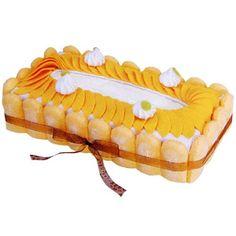elegant peach ladyfingers felt tissue box