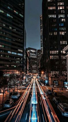 Wallpaper of long exposure Night Photography View of Vehicle Headlamps Light Trails background. Urban Photography, Night Photography, Landscape Photography, Nature Photography, City Lights Photography, Photography Wallpapers, Cityscape Photography, Travel Photography, Night Long Exposure Photography