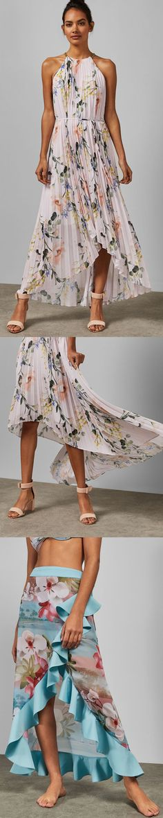 Discover Ted Baker's collection of stunning designs, from day and evening dresses, to signature, statement pieces to help create your show-stopping look. Fashion Shoot, Runway Fashion, Fashion Models, Pink Midi Dress, Pleated Midi Dress, Dress Outfits, Fashion Dresses, Fashion Stylist, Designing Women