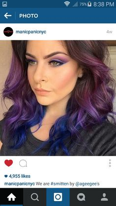 Love the transition between the brunette and purple