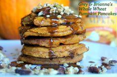 whole wheat Pumpkin Pecan pancakes- making these this weekend!
