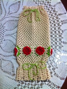 Cristal Croche: Puxa-saco em crochê