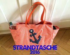 Dieses Jahr geht es ins Land der orangen Farbe oder besser gesagt nach Holland. Da mir noch eine große Strandtasche fehlt, habe ich mich schnell vor dem Urlaub an die Nähmaschine gesetzt. Heute zei…