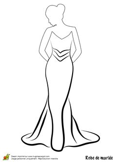 1000 images about coloriages mode on pinterest robes - Coloriage de mariee ...