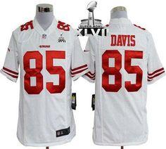 4fbd44b84 Nike 49ers  85 Vernon Davis White Super Bowl XLVII Men s Embroidered NFL  Game Jersey