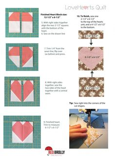 LoveHearts Quilt to Make in a Weekend. - Red Brolly