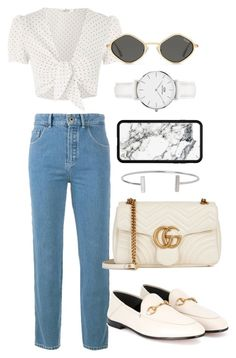 """""""Untitled #366"""" by ritapf ❤ liked on Polyvore featuring Chloé, Oh My Love, Gucci, Humble Chic and Daniel Wellington"""