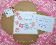 Make Your Own Wedding Invitations:  Tips, Ideas, and Tutorials To Create Fab Homemade Invitations