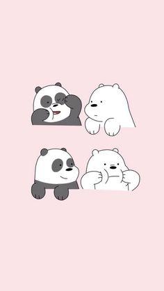 Find Your Favorite Cartoon Here Cute Panda Wallpaper, Disney Phone Wallpaper, Cartoon Wallpaper Iphone, Bear Wallpaper, Kawaii Wallpaper, We Bare Bears Wallpapers, Panda Wallpapers, Cute Cartoon Wallpapers, Cute Wallpaper Backgrounds
