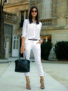 looks para trabalho roupas brancas - Pesquisa Google
