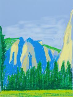 "David Hockney | ""Untitled No.2 "" from ""The Yosemite Suite"" (2010) | Artsy"